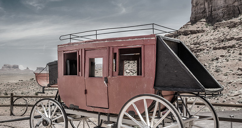 stagecoach robbery on the plains